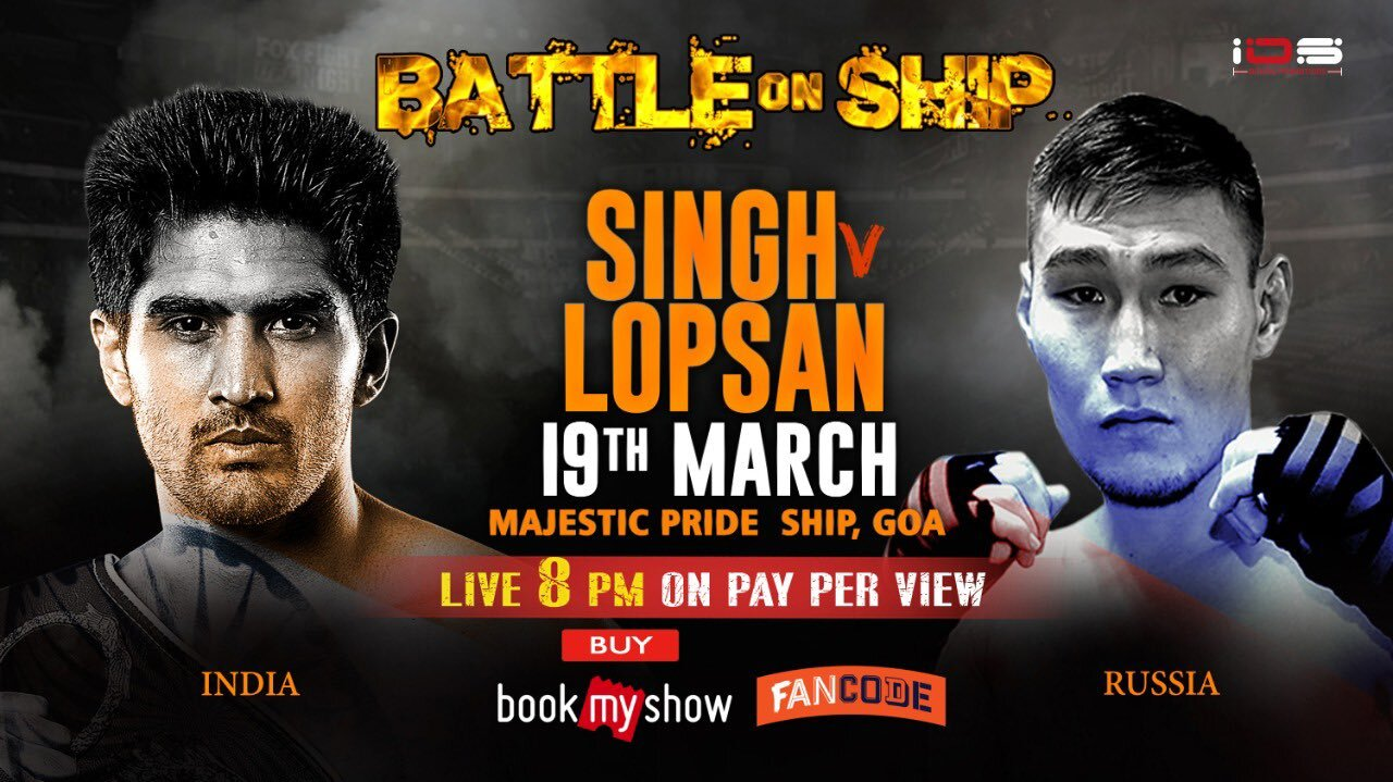 Battle on Ship vijender singh anf lopsan