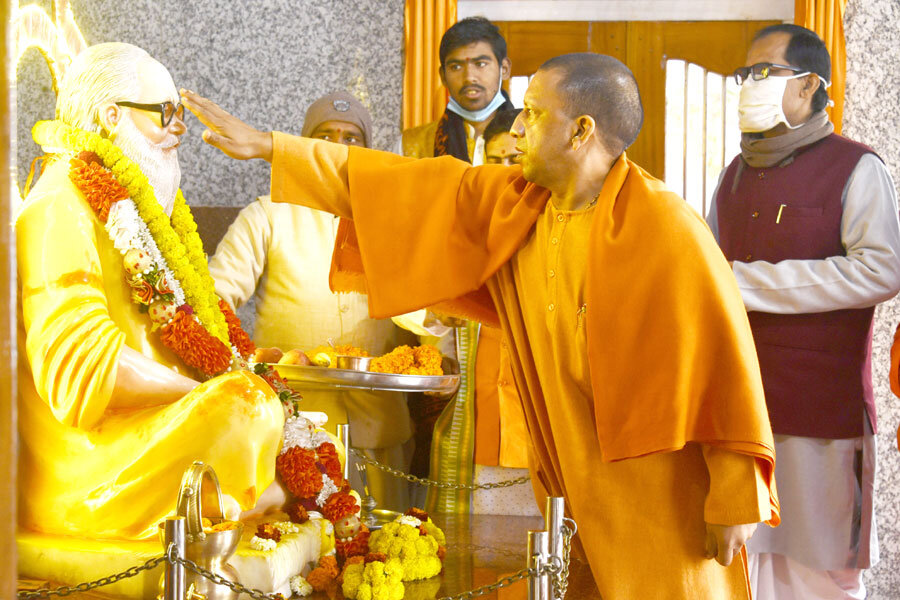योगी आदित्यनाथ Yogi Adityanath Gorakhnath Temple गोरक्षनाथ मंदिर